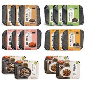 [하늘농가] 바로먹는렌지쿡 나물반찬 4종+산채비빔밥 2종 총16팩