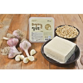 의성마늘 참두부 한모(500g) /국내산콩100%/직접농사/의성마늘/땅빛채운/도향
